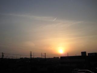 夕陽と会えた。